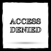 Access denied icon. Internet button on white background. Outline design imita - stock illustration