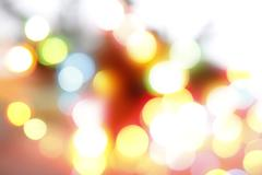 Colorful circles of light abstract background - stock photo