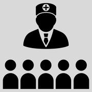 Doctor Class Icon Stock Illustration