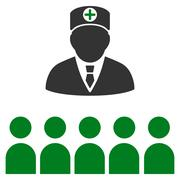 Doctor Class Icon - stock illustration