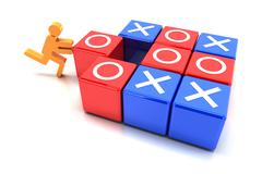 Tic tac toe game - stock illustration