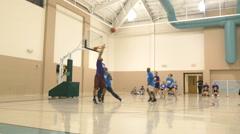 Intramural basketball Stock Footage