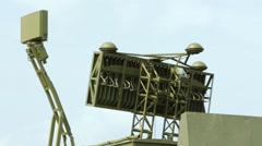 Stock Video Footage of The rotating antennas of the radars