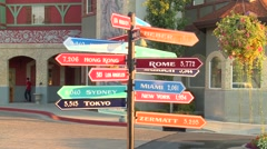 Sign post in street Stock Footage