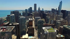 Aerial Illinois Chicago Stock Footage