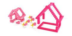 Building a bigger house Stock Illustration