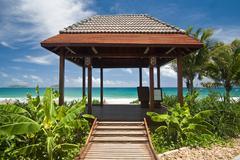Beach gazebo - stock photo