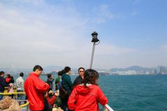 Hong Kong harbor Overall visitor arrivals Stock Photos