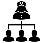 Nurse Patients Icon - stock illustration