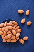 Almond without shell Stock Photos