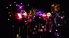 Firework Show Animation - Loop Stock Footage