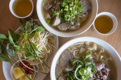 Vietnamese beef noodle soup Stock Photos