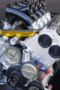 Race car engine Stock Photos