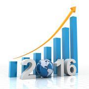Growth chart 2016 - stock illustration