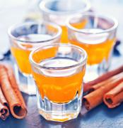 orange liquor - stock photo