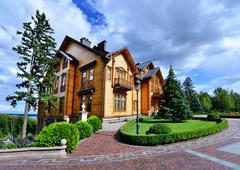 Mezhigirya residence of ex-president of Ukraine Yanukovich. - stock photo