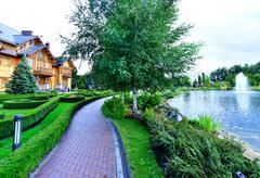 Mezhigirya residence of ex-president of Ukraine Yanukovich. Stock Photos