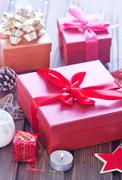Stock Photo of boxes for present
