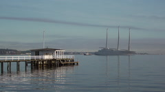 White Pearl in the morning. - stock footage