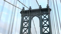 Crossing the Manhattan Bridge seen from the inside - stock footage