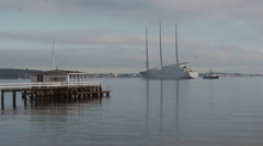 White Pearl in the morning timelapse. Stock Footage