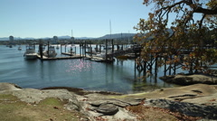 Newcastle Island Docks, Nanaimo Stock Footage