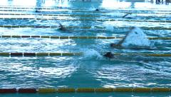 Swimming Pool Race track 6 Stock Footage