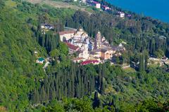 New Athos Monastery - stock photo