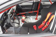 Interior of touring car for racing on race circuits Kuvituskuvat