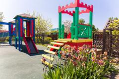 Kids playground children site recreation equipment - stock photo
