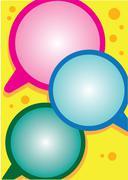 Stock Illustration of Vibrant Layout Design with Speech Balloons