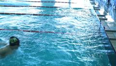 Swimming Pool Race track 7 Stock Footage