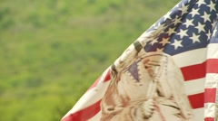 Native American Flag waving in wind - stock footage