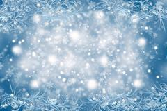 Christmas background with a frosty pattern Stock Photos