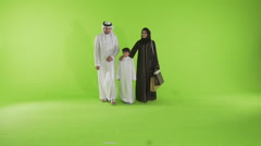 Emirati family walking Stock Footage