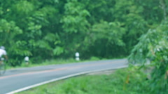 HD Footage, Motion blurr of bike riding on forest trail Stock Footage