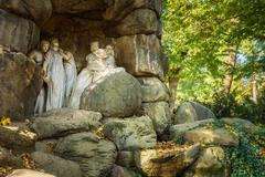 Stock Photo of Julius Zeyer memorial in Chotkovy sady orchards in Prague, Czech