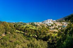 Benahavis In Malaga, Andalusia, Spain. Summer Cityscape. Village Stock Photos