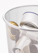 Recycling aluminum metal cans - stock photo