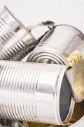 Recycling aluminum metal cans Stock Photos