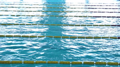 Swimming Pool Race track Empty 03 Stock Footage