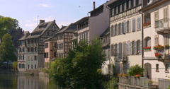 Strasbourg is the capital and principal city of the Alsace region Stock Footage