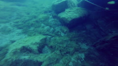Ship Wreck Underwater Stock Footage
