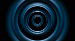 Dark blue tech smooth circles motion design Stock Footage