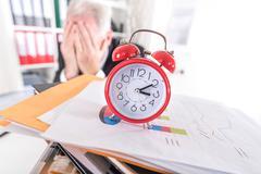 Stress of deadline - stock photo