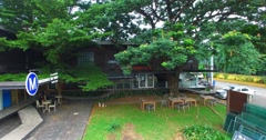 Aerial side dolly of thailand cowork space Stock Footage