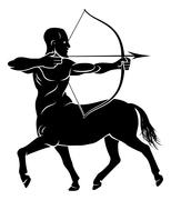 Stylised Centaur Archer - stock illustration