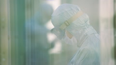 Scientist working in a laboratory Stock Footage