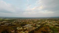 Flying over the city. Nature landscape. Aerial foootage Stock Footage