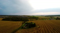 Flying over the fields. Nature landscape. Aerial foootage Stock Footage